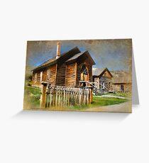 Church in Bannack, Montana Greeting Card
