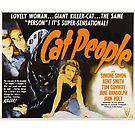 Cat People (1942) - Vintage Movie Poster by 45thAveArtCo