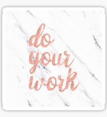 Do Your Work Text - Typography Quote Sticker