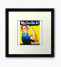 We Can Do It! (1943) - US Wartime Propaganda Poster Framed Print