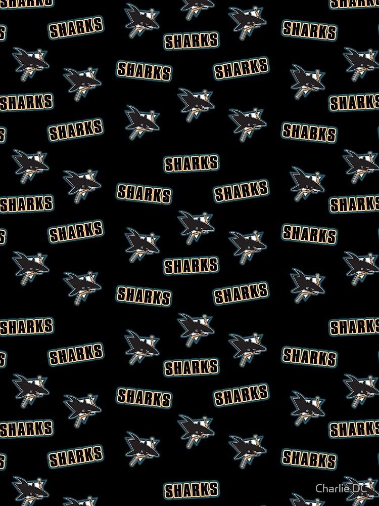 """The San Jose Sharks"" Original Logo Black by cassintheimpala"