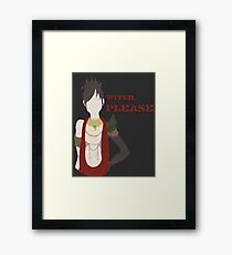 Witch, Please Framed Print
