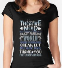 Theatre Nerd Women's Fitted Scoop T-Shirt