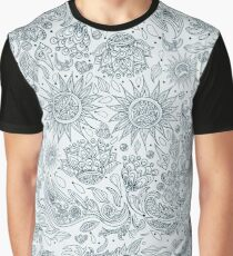 Seamless Ethnic Tribal Pattern with Flowers Graphic T-Shirt