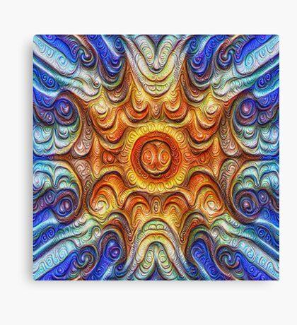 Frozen Sun #DeepDream #Art Canvas Print
