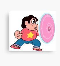 steven universe rose shield  Canvas Print