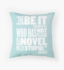 Intolerably Stupid Jane MINT Throw Pillow