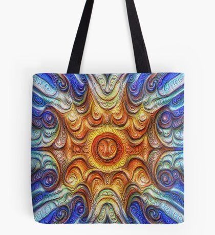 Frozen Sun #DeepDream #Art Tote Bag