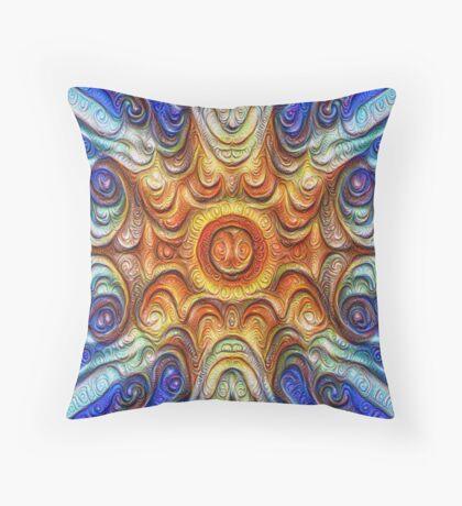 Frozen Sun #DeepDream #Art Throw Pillow