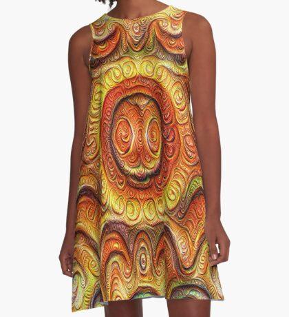 Frozen Sun #DeepDream #Art A-Line Dress