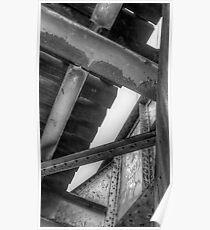 Underneath- a view from under a CSR Railroad Girder Bridge Poster