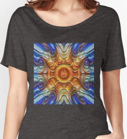 Frozen Sun #DeepDream #Art Relaxed Fit T-Shirt
