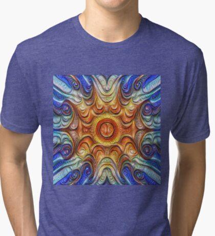 Frozen Sun #DeepDream #Art Tri-blend T-Shirt