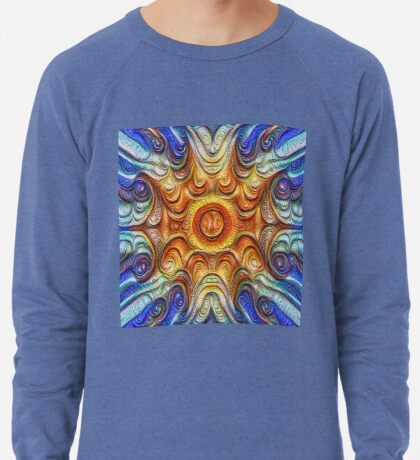 Frozen Sun #DeepDream #Art Lightweight Sweatshirt