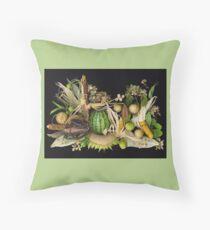Gentle Harvest, Dudley Farm Gardens Throw Pillow