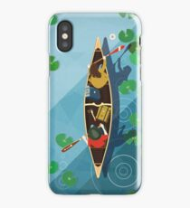 Paddling Through the lily pads iPhone Case/Skin