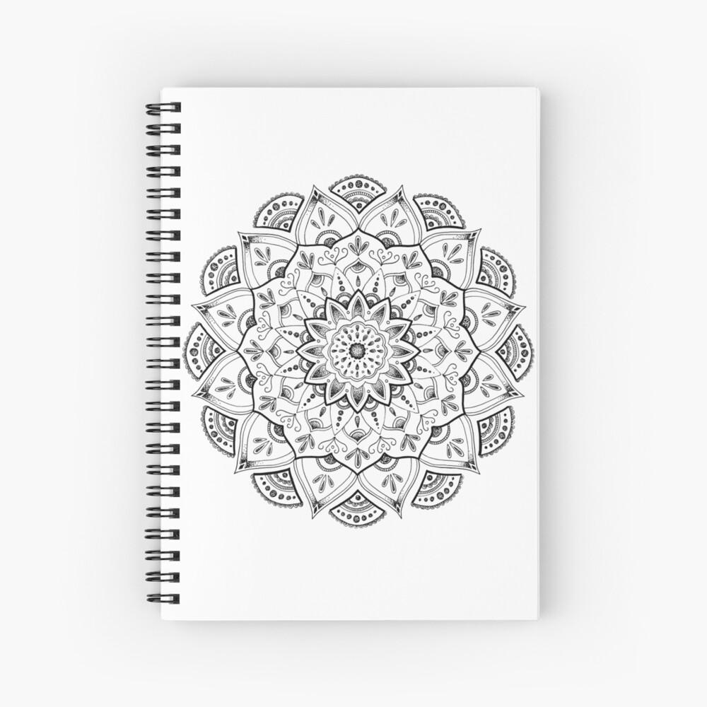 Friedliche Mandala Spiralblock