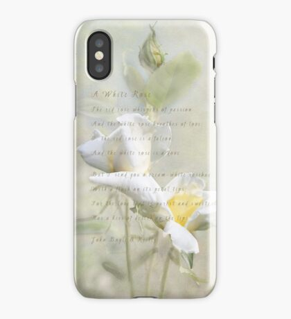 A White Rose iPhone Case