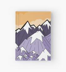 Mountains under the orange sky  Hardcover Journal