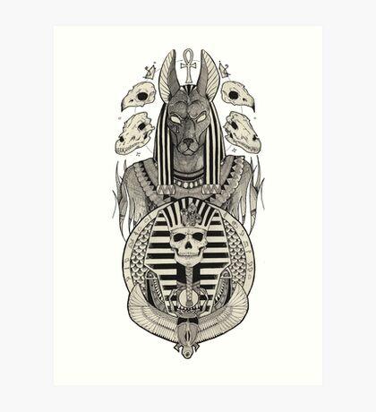 Anubis. Art Print