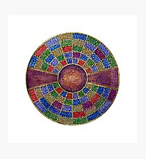 Mandala :  Colour Coded Photographic Print