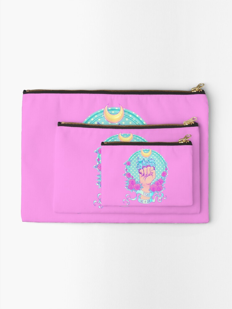 Alternate view of Fight Like A Girl Zipper Pouch