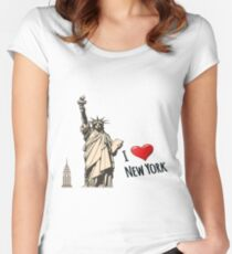 New York, New York  Women's Fitted Scoop T-Shirt