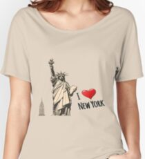 New York, New York  Women's Relaxed Fit T-Shirt