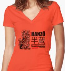 Kill Bill Hattori Hanzō Sword Master Women's Fitted V-Neck T-Shirt