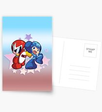 Rockman & Protoman | Please Like and Share :) Postcards