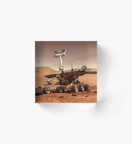 Künstlerische Wiedergabe von Mars Rover. Acrylblock