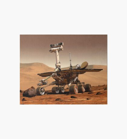 Künstlerische Wiedergabe von Mars Rover. Galeriedruck