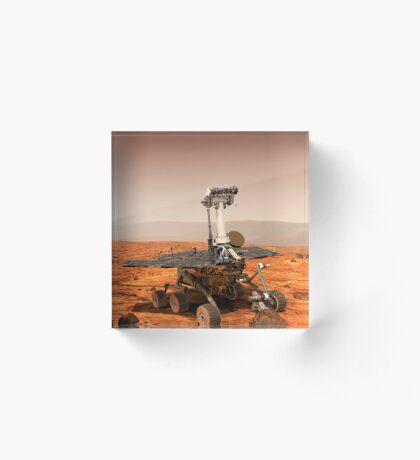 Künstler-Wiedergabe von Mars Rover Acrylblock