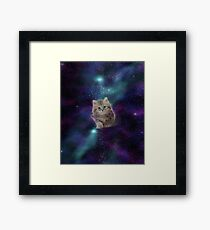 Space cat - MEOW! Framed Print