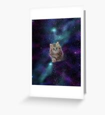 Space cat - MEOW! Greeting Card