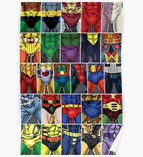 Superhero ABC's Poster Poster