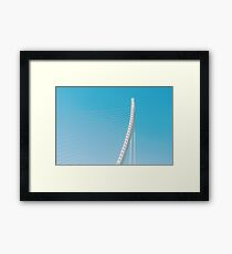 White Abstract Bridge Structure On Sky Framed Print