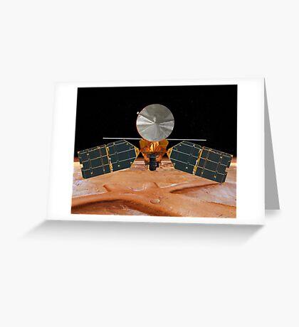 Künstlerisches Konzept des Mars Reconnaissance Orbiter. Grußkarte