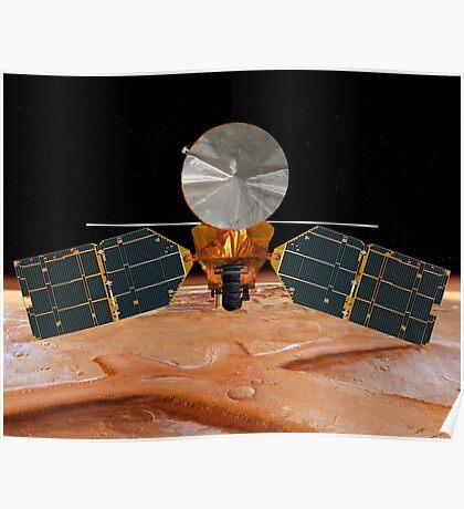 Künstlerisches Konzept des Mars Reconnaissance Orbiter. Poster