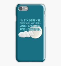 In my defense, the moon was full and I was left unsupervised iPhone Case/Skin