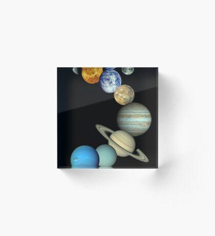 Sonnensystem-Montage Acrylblock