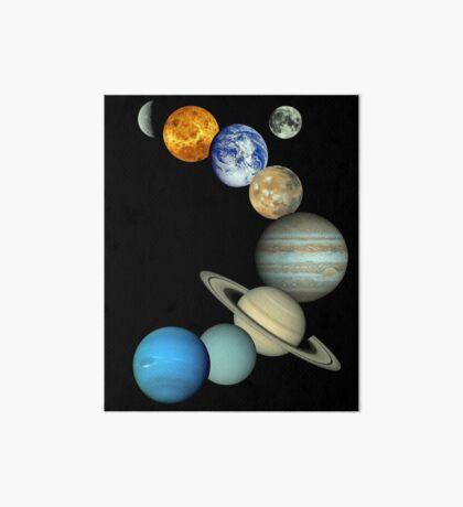 Sonnensystem-Montage Galeriedruck