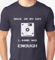 Retro Gaming T-Shirt Back In My Day 1.44MB Was Enough Floppy T-Shirt