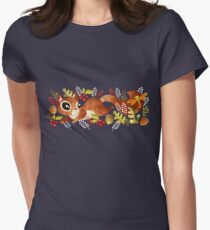Playful Squirrel Women's Fitted T-Shirt