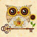 Owl's Autumn Song by sandygrafik