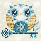 Winter Wonderland Owl by sandygrafik