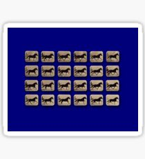 Muybridge - Locomotion Theory 1 - Horse and Cart - Blue Sticker