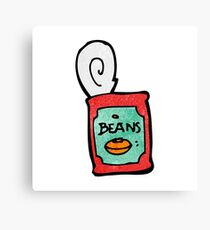 canned food cartoon Canvas Print