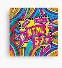 HTML5 - COMPUTER CODING Canvas Print