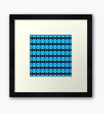 Blue Abstract Mirror Pattern Framed Print